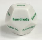 12 Sided Green Jumbo Place Value Die Product Number 13306