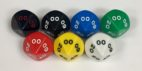 Koplow 10 Sided d00 Opaque dice - available in 7 different colors