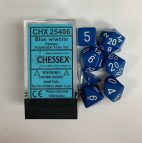 Blue w/White Numbers Set of 7