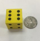 1 inch Foam Dice Yellow - DiceEmporium.com