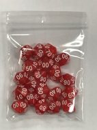 Red White Pearl d10 % HD Set of 20 Dice 10 Sided - DiceEmporium.com
