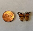 Brown Butterfly Charm